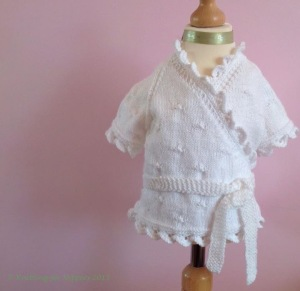 Knitted cardigan created by Knitting for Nippers
